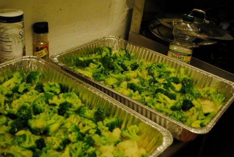 Local veg being prepped for weekly soup kitchen meal in Greenpoint