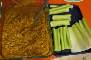 Celery was eaten as a snack all week with Mark Bittman's peanut sauce.