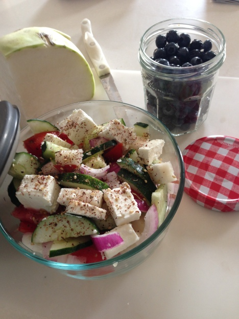 Kohlrabi Greek Salad