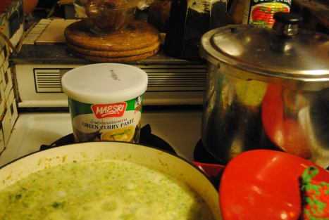 corn & broccoli curry soup by ryan kuonen