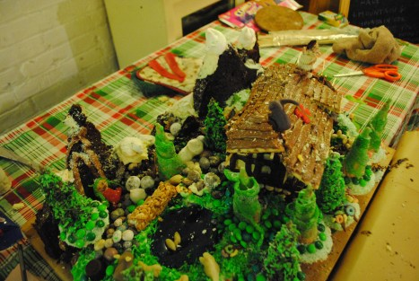 Alpine Meadow Christmas Cake