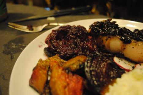 Romantic Valentine's Dinner with CSA veg + meat