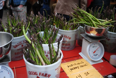 Asparagus makes an appearance in Week 1 of the Greig Farm Berry Share