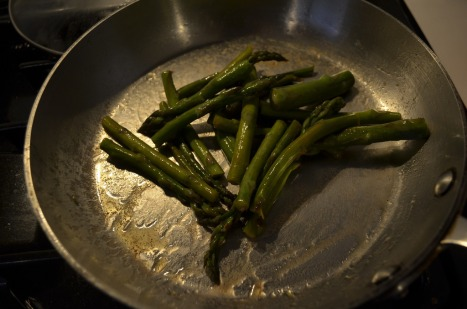Asparagus in the sauté