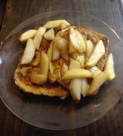 6 Apple maple french toast